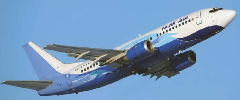Boeing 737-300, эксплуатируемый национальным перевозчиком республики – «Таджик Эйр» с декабря 2011 года