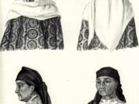 Головные уборы таджичек равнинных районов
