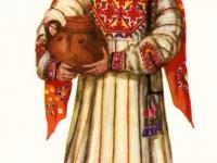 Старинный костюм девушки из Дарваза (Горный Таджикистан)