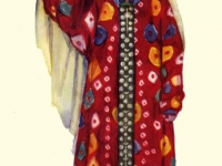 Праздничный костюм молодой женщины из Дарваза (Горный Таджикистан) в старинном головном уборе