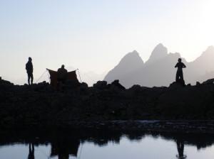 Альпинистский лагерь Варзоб. Вечер на центральном перевале