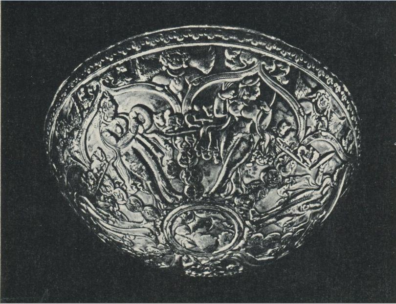 Эфталитское общество. Серебряная чаша из Чилека