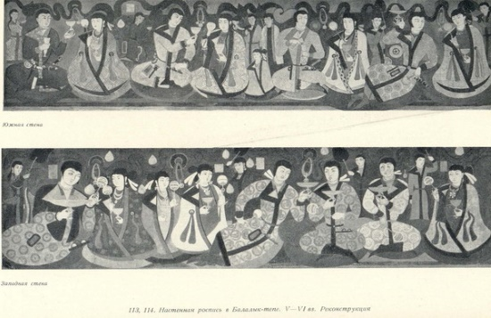 Искусство Тохаристана в VI - начале VIII в. Росписи Балалык-тепе