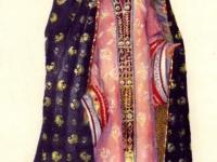 Старинный выходной костюм молодой женщины из Бухары