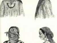 Современные головные уборы таджичек горных и равнинных районов