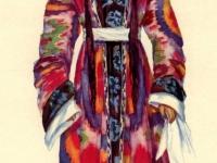 Старинный траурный костюм молодой женщины из Каратага (Центральный Таджикистан)