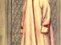 Старинный костюм молодой женщины из Рушана (Западный Памир)