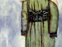 Современный траурный костюм старой женщины из Ленинабада