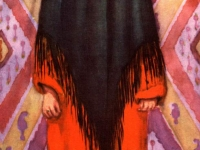 Выходной костюм девушки или молодой женщины из Ленинабада, бытовавший в первое время после того как паранджа вышла из употребления