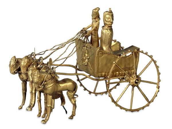 Амударьинский клад. Модель колесницы (золото)