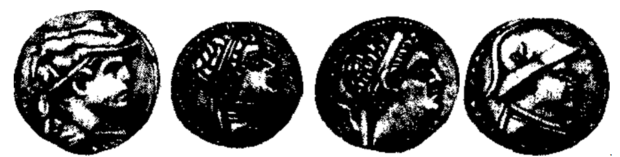 Монеты правителей Греко-Бактрии