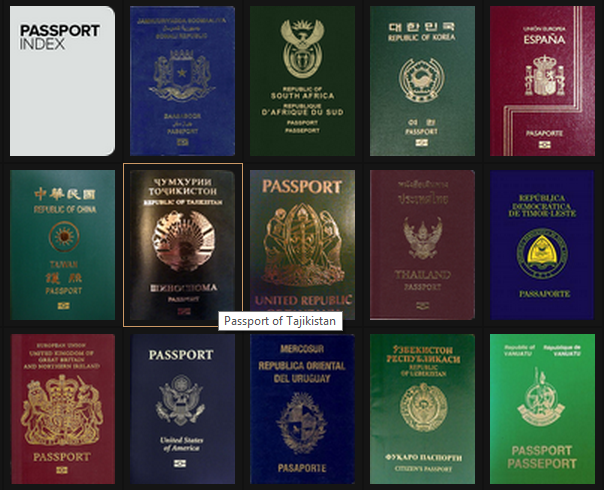 Паспорт гражданина Таджикистана позволяет безвизовый доступ в 53 страны